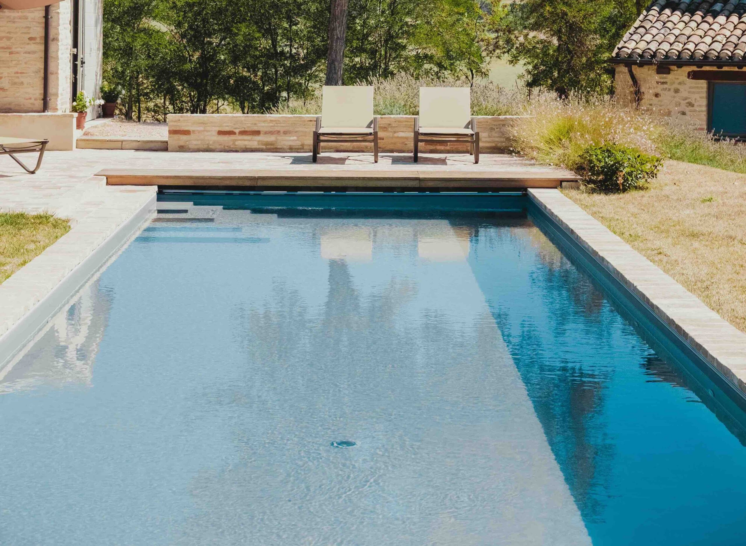 piscine avec fond amovible